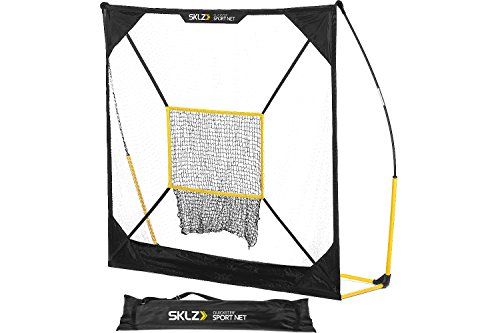 all Hitting Net with Removable Pitching Target, Ultra Durable and Portable Sport Practice Net for Baseball and Softball (5-feet by 5-feet) (Multi Sport Practice Net)