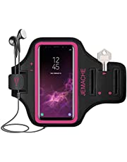 Galaxy A50, A51, A20 Armband, JEMACHE Water Resistant Gym Running Workouts Arm Band Holder for Samsung Galaxy A50, A51, A20, A10 (Rosy)