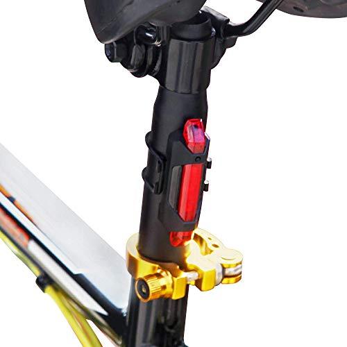 TwoMonkeys Ultra Bright Rear Bike Light – Long Lasting USB Re-Chargeable – Waterproof – 50 lumens- 5 LED – 4 Settings For Sale
