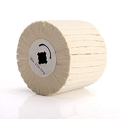 5 inch Wool Striping Drawing Wire Flap Polishing Wheel Abrasive Buffing Wheel Rotary Tool for Surface Polishing, Waxing Mirror 125x20x100mm: Home Improvement
