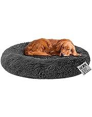 Decdeal Huisdierbed voor katten en honden, rond, pluche hondenbed, kattenbed in donutvorm, kleur en grootte naar keuze