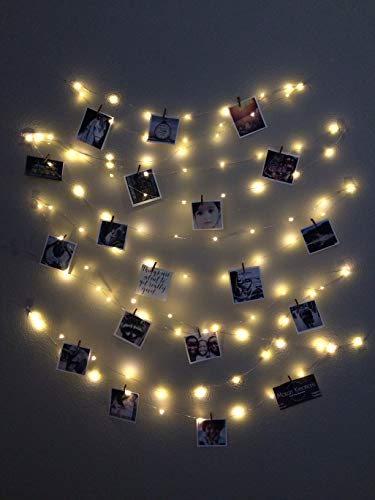 (30ft Fairy String Lights - Silver and Rose Gold Wire, Plug-in and Battery Options! (Silver Wire, Battery))