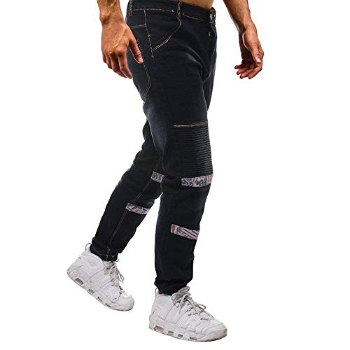La Los Delgados De De Algodón Pantalones Vaqueros del La De Manera Skinny De Pantalones Vaqueros Multi Dril Pantalones Mehrfarbig Moda del Bolsillo Mezclilla Los Estiramiento con Los De De Hombres wPWzY