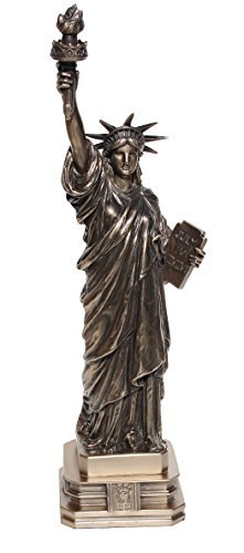 Collectible Resin Figure - 12 3/8 Inch Cold Cast Bronze Resin Statue of Liberty Collectible Figure Statue