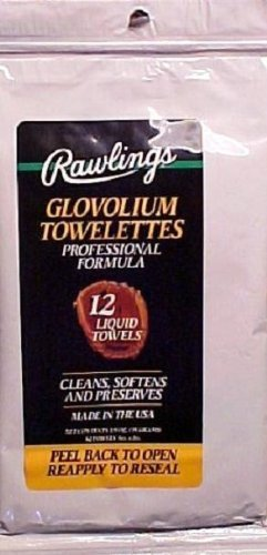 Rawlings Glovolium Towelettes, Professional Formula, Glove Treatment Wipes by Rawlings