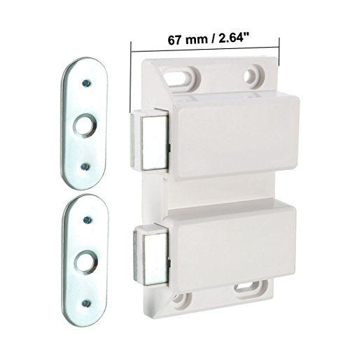 uxcell Double Magnetic Touch Press Catch Latch Plastic White for Cabinet Door Shutter 5Pcs by uxcell (Image #2)