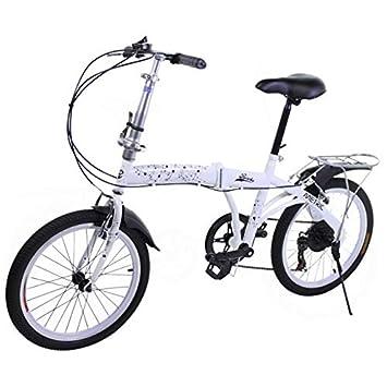 Riscko Metric Bicicleta Plegable Unisex con Ruedas de 20 Color Blanco