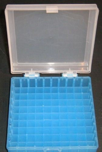 Micro Tube Storage - Freezer Plastic Storage Box 10x10 100 Positions, for Centrifuge Cryogenic Tubes and Cryotube Vials