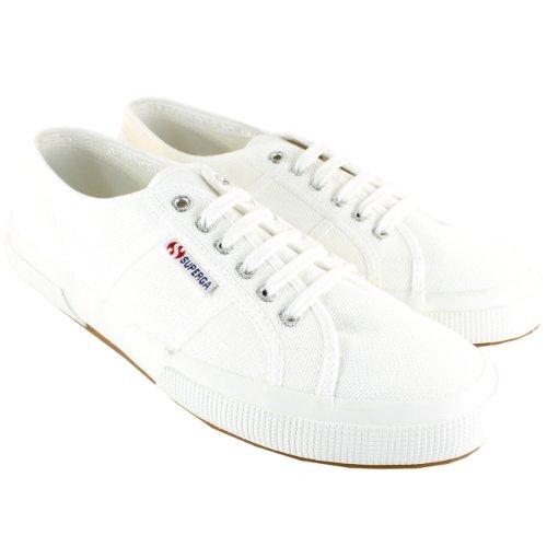 Cheap Mens Superga 2750 Cotu Classic Premium Canvas Low Cut Plimsoll Trainers – White – 12