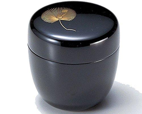 Echizen Urushi Lacquer Japanese Natsume tea ceremony Matcha Container Tea Caddy Chinkinmatsu Gold Pine by Echizen Urushi