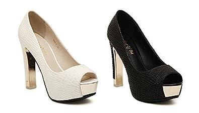 bf6097053e Amazon.com   Gaorui Women Formal Evening Pumps Stilettos Peep Toe  Serpentine Platform Shoes Sandals   Pumps