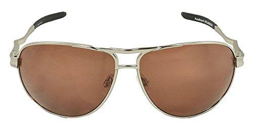 Copper Golf Sunglasses - Optic Nerve Pondhawk Sunglasses, Silver, Polarized Copper Lens