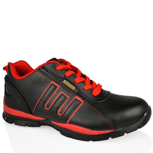 Zapatillas Unisex De Seguridad Black Negro Gr86 Groundwork Leather red Ra6qWwF6