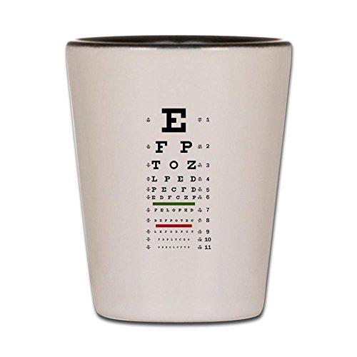Shot Glass White and Black of Optometrist Opthamologist Eye Chart (Eye Chart Shot Glass compare prices)