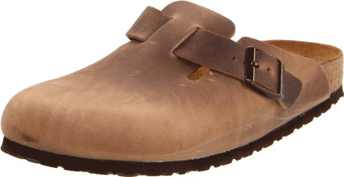 Birkenstock Boston Classic  Arch Clog,Tobacco Brown Leather,43 M EU