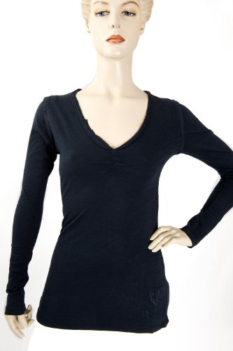 Desigual - Camiseta de manga larga - para mujer Azul (Marino 5001)
