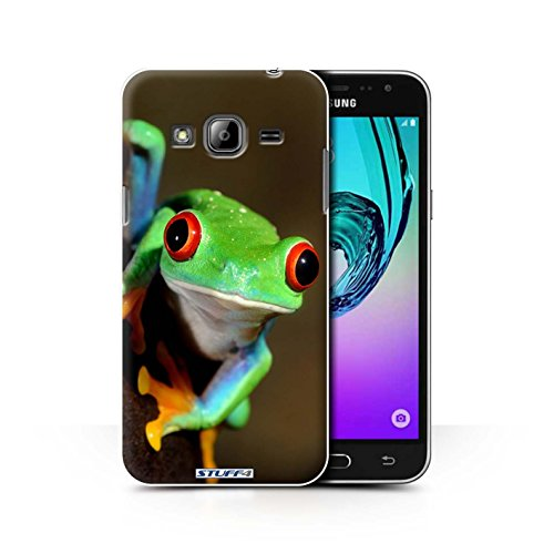 STUFF4 Phone Case / Cover for Samsung Galaxy J3 / Frog Design / Wildlife Animals Collection