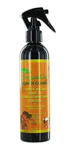 JOrganic Solutions Carrot Argan Kids Leave-In Conditioning Milk Detangler with Jamaican black castor, coconut oil & more