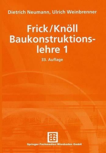 Frick/Knöll, Baukonstruktionslehre 1