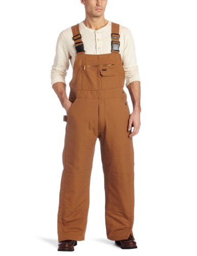 Key Apparel Men's Fire Resistant Insulated Duck Bib Overall, Carmel Brown, Small-Short
