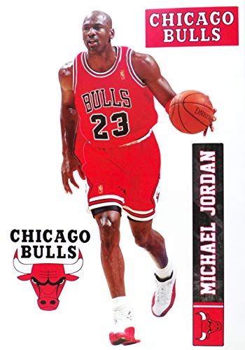 FATHEAD TEAMMATE Michael Jordan Chicago Bulls Logo Set Official NBA Vinyl Wall Graphics 17
