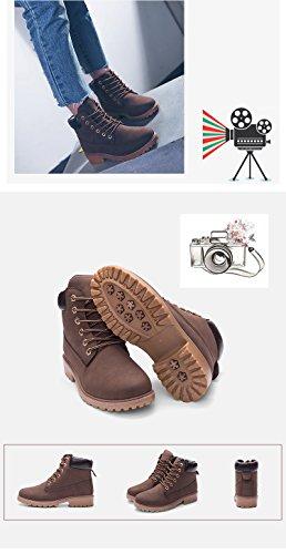 Stivali Buchi Marrone Adulto Autunno Boots Stivaletti Minetom Martin Stivaletti 6 Ragazza Moda Donna Corti wOq6HYxX1
