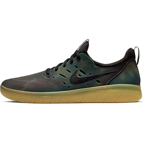 Sb Nike Brown - Nike SB Nyjah Free Premium Mens Fashion-Sneakers AO0805-900_9.5 - Multi-Color/Black-Gum Light Brown