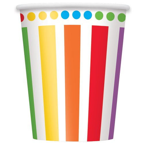 Piece Of Toast Halloween Costume (9oz Rainbow Party Cups 8ct)