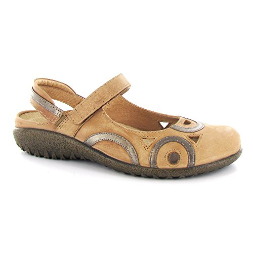 Rongo Brown Mary Latte Leather Leather Women's Pewter Naot Flat Jane 4xvFZ5pq