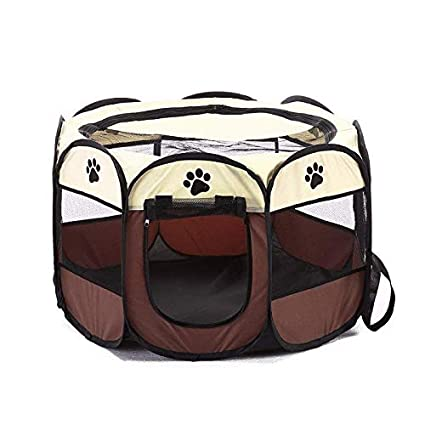 Manggofriut Houses, Kennels & Pens - Portable Foldable Playpen Pet Dog Crate Room Puppy Exercise