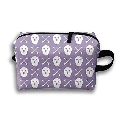 Halloween Pattern Painting Makeup Pouch Portable Travel Cosmetic Bags Durable Waterproof Pencil Case -