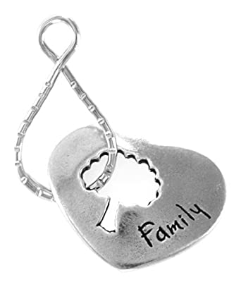 Family w/ Tree Of Life Blessing Ring Keychain