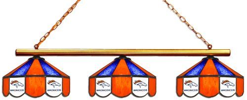 (Imperial Officially Licensed NFL Merchandise: Tiffany-Style Stained Glass Billiard/Pool Table 3 Shade Light, Denver)