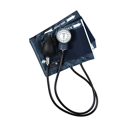 MABIS CALIBER Series Adjustable Aneroid Sphygmomanometer with Mini Screwdriver, Calibrated Blue Nylon Cuff and Deluxe Carrying Case, For Professional or Home Use, Adult, Cuff Size 11 to 16.4 Inches, Blue by MABIS DMI Healthcare (Image #4)