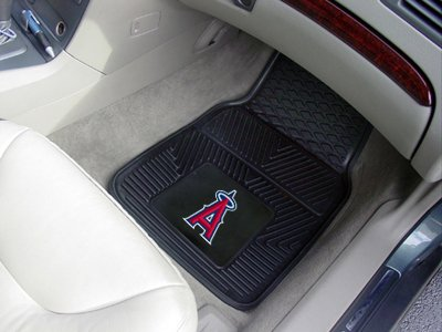 "Fanmats MLB - Los Angeles Angels 2-pc Vinyl Car Mat Set/17""x27"""
