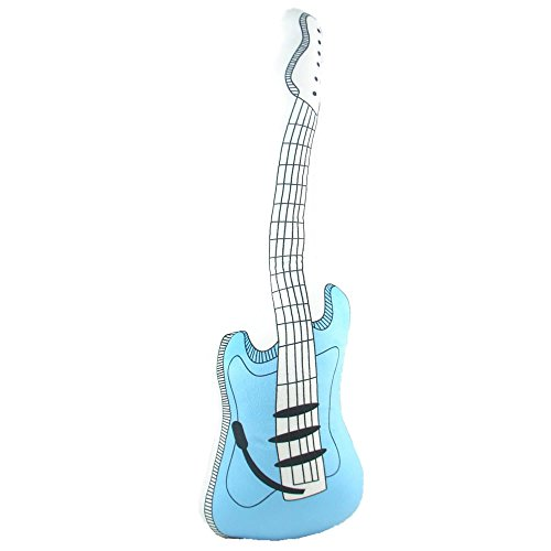 PLUSH TOY Electric Guitar Stuffed Pillow (Blue, 23.6 Inch Length)