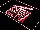ADVPRO Movie Night Film Cinema Bar Beer LED Neon Sign Red 12'' x 8.5'' st4s32-i707-r