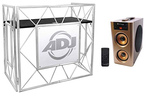 American DJ Pro Event Table II Foldable DJ Booth Truss Facade+Bluetooth Speaker