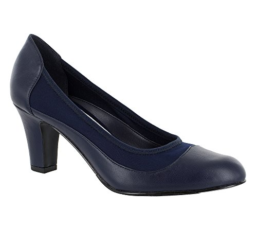 Easy Street Women's Jordan Dress Pump, Navy, 7.5 N US