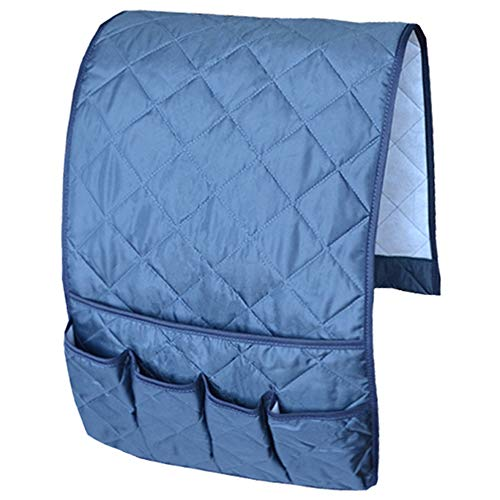 MDSTOP Sofa Couch Chair Armrest Organizer, Fits for Phone, Book, Magazines, TV Remote Control(Dark Blue)