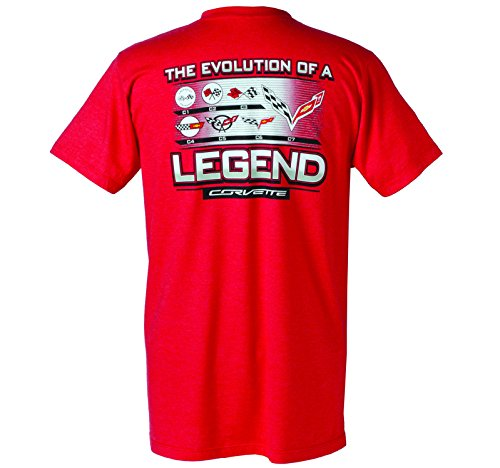 - Corvette Evolution Of A Legend T-Shirt Red XLarge