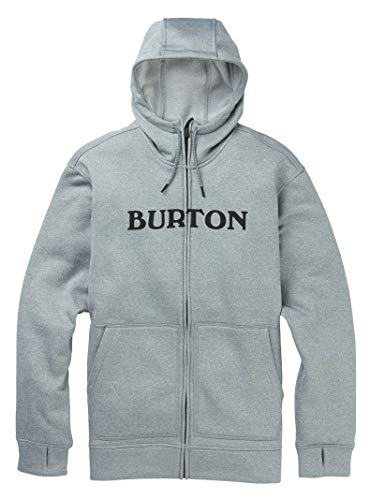 Burton Men's MB Oak FZ, Gray Heather, Large