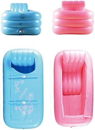 HUOQILIN PVCプラスチックポータブル折りたたみインフレータブル風呂大人のお風呂、SPA付きのスパ用浴槽のインフレータ