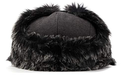 hat Caliente Edad e GLLH de Mediana Sombrero noreste Orejeras de otoño algodón Sombreros Boina y D qin Viejo B Invierno Gorro del U4P5w