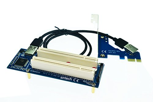 Sintech PCI-E Express X1 to Dual PCI Riser Extender Card