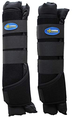 Professional Equine Horse 4-Pack Stable Shipping Boot Wraps Leg Care Black 4120BK by Professional Equine (Image #1)