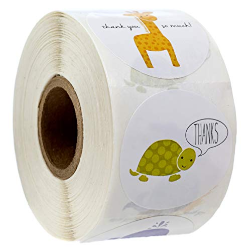 Adorable Animals Thank You Stickers - 1.5