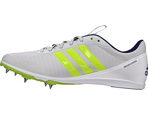 adidas Distancestar Cleat Women's Track Field 3.5 White-Solar Lime-Purple
