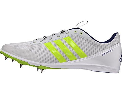 Zapatillas De Running Adidas Mujeres Distancestar W Para Mujer Con Tachuelas Blanco-solar Lime-purple