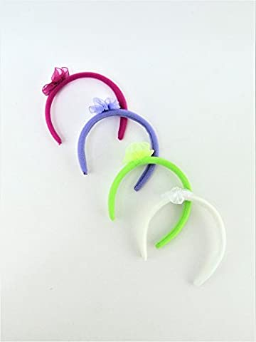 4 Pack of Headbands- Lavender, White, Green, & Magenta | Fits 18